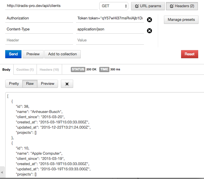 Dradis Pro v2 2 REST API /clients endpoint - Dradis