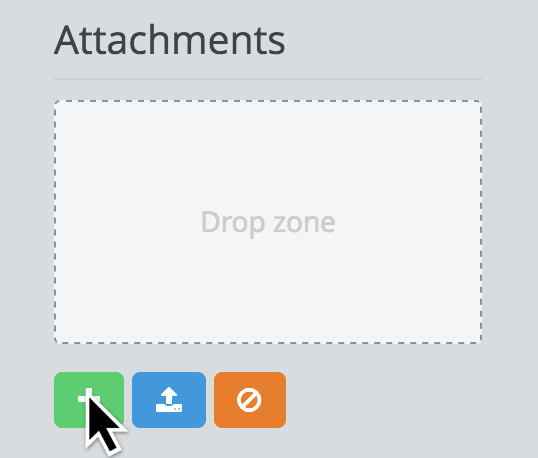 Web interface attachments widget, instead of attachments api new endpoint