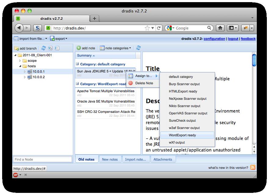 Screenshots | Dradis Framework