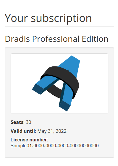Apply your license | Dradis Pro Help