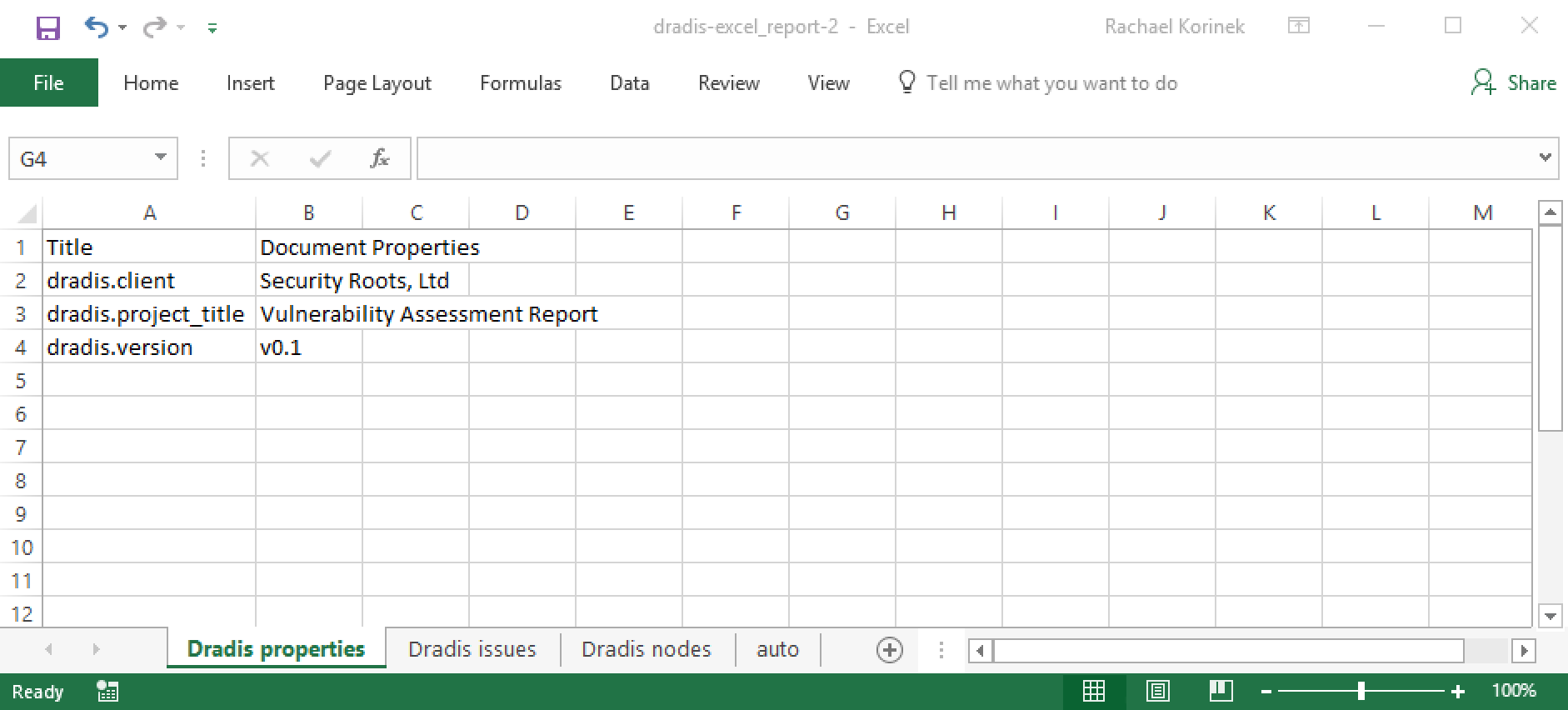 Create an Excel Template | Dradis Pro Help
