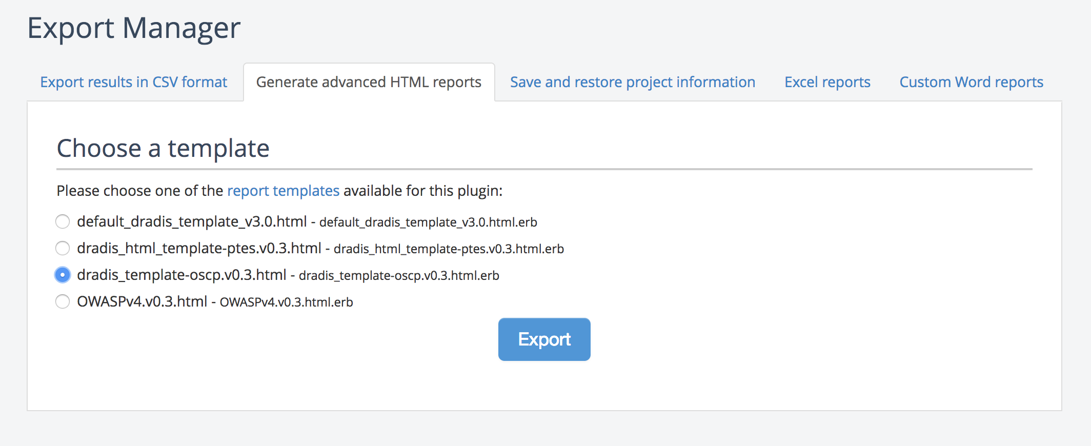 Creating HTML reports | Dradis Pro Help