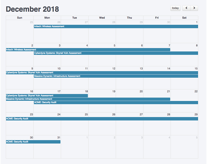 Project Scheduler screenshot