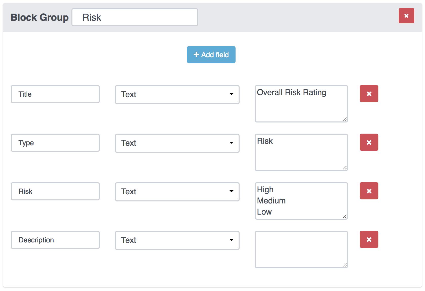 Report template properties | Dradis Pro Help