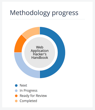 Shows the methodology progress tracker interface.