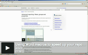Video using word macros